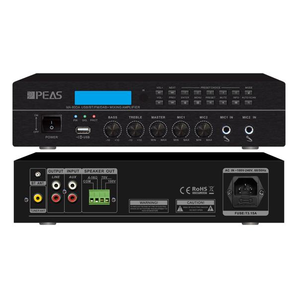 MA-60DA 60W Digital Mixing Amplifier with FM/RDS/DAB/DAB+