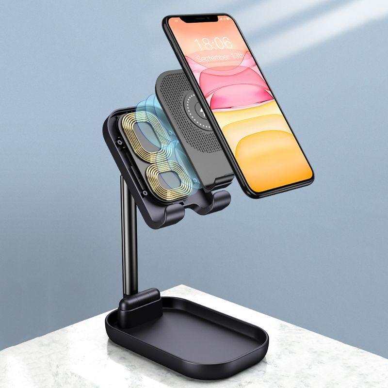 Desktop folded collapsible adjustable flexible metal mobile cell phone holder for all phones