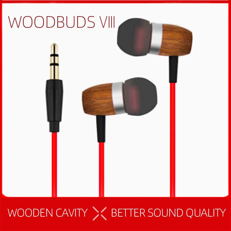 Woodbuds VIII wired 3.5mm wooden earphone